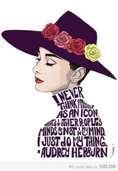 """Graphic & Typography  """"...I just do my thing."""" Audrey Hepburn"""