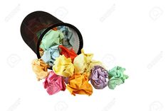 10182387-Colorful-crumpled-office-paper-by-the-trash-basket-Stock-Photo.jpg (1300×866)