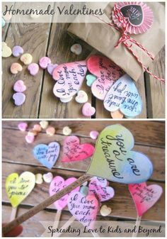 Spreading Love with Homemade Valentines - This Valentine's Day idea has depth and character teaching for kids.
