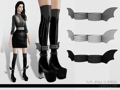 Bat Ankle Garters by Leah Lillith - Sims 3 Downloads CC Caboodle
