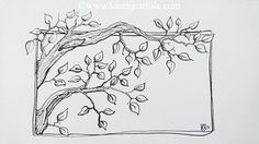 Day Prompt: Tree I tried drawing the trunk and branches with one continuous line, only lifting to re-fill the nib with ink. Logo Arbol, 31 Day Challenge, Continuous Line Drawing, Wine Bottles, Prompt, Inktober, Branches, Art Projects, Fill