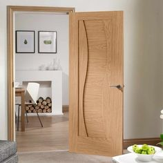 Oak Internal Doors with glass, panelled or flush. Wide range of sizes and available in and widths. Free delivery of Oak Internal Doors in the UK. Cheap Internal Doors, White Internal Doors, Bedroom Door Design, Door Design Interior, Interior Doors, Modern Wooden Doors, Wooden Main Door Design, Door Design Images, Modern Kitchens