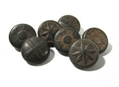 Rubber Buttons Goodyear VINTAGE Rubber Buttons Seven 7 by punksrus