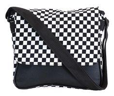 Black And White Checkerboard Gothic Handbag Rockabilly Shoes, Beautiful Bags, Designer Handbags, Messenger Bag, Diaper Bag, Gym Bag, Gothic, Pouch, Personalized Items
