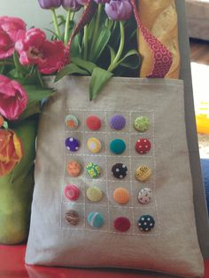 Fabric button bag