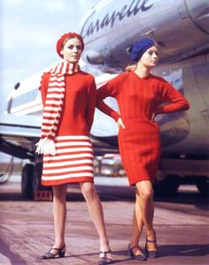 Vintage Air France flight attendants, how stylish. Air France, Vintage Outfits, Vintage Fashion, French Fashion, Vintage Clothing, German Fashion, 1960s Fashion, Vintage Vogue, Airline Uniforms