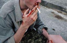 blood, boy, and grunge εικόνα