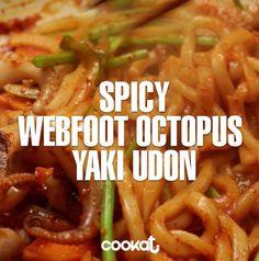 [COOKAT]Spicy Webfood Octopus Yaki Udon