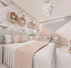 50 Gorgeous Bedroom Design And Decor Ideas For Girl Girls Bedroom Ideas Bedroom Decor design Girl Gorgeous Ideas Cute Bedroom Ideas, Cute Room Decor, Girl Bedroom Designs, Teen Room Decor, Room Ideas Bedroom, Bedroom Colors, Bedroom Themes, Diy Bedroom, Bedroom Small