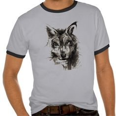 Charcoal Drawing Dog Tshirt
