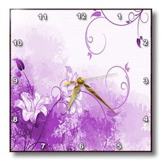 3dRose dpp_66157_2 Pretty Purple Lilly Wall Clock, 13 by 13-Inch 3dRose http://www.amazon.com/dp/B00BDZ5RB8/ref=cm_sw_r_pi_dp_f2ePub1C7KD1P