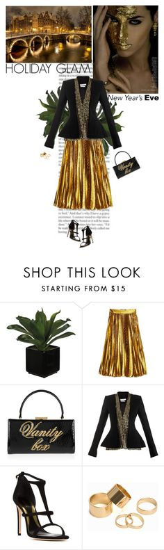 """NYE"" by helena99 ❤ liked on Polyvore featuring Gucci, Moschino Cheap & Chic, Altuzarra, Sebastian Milano, Pieces and nyestyle"