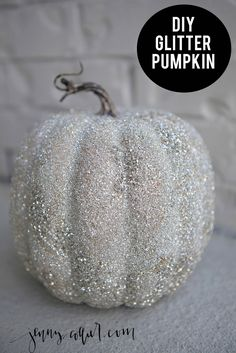 crations dhalloween Years ago I bought a silver glass glitter pumpkin from Target. I haven't been able to find another since so I thought I would try my hand at making my own this Glitter Pumpkins, Painted Pumpkins, Fall Pumpkins, Halloween Pumpkins, Fall Halloween, Halloween Crafts, Christmas Pumpkins, Pink Pumpkins, Velvet Pumpkins
