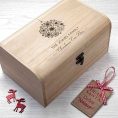 Personalised Family Christmas Eve Chest With Bauble Design - S - Christmas Eve Box - Family Night Before Christmas Box - FREE UK DELIVERY