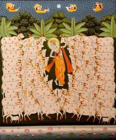 Krsna the divine goatherder. Kishangarh, India