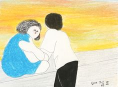 Kyung Me explores young love in New York through her free-form drawings.