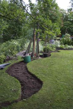 Hmmmm thinking of expanding the flower edging in the yard this year with a path down the middle