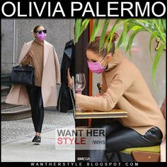 Olivia Palermo Outfit, Olivia Palermo Lookbook, Olivia Palermo Style, Leather Pants Outfit, Black Leather Pants, Kim K Style, Her Style, Layered Fashion, Camel Coat
