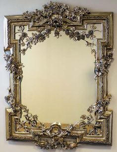 Champagne Silver Rose Wall Mirror 140 x 101cm [EE121] - £233.75 : Mirrors for Every Interior from Exclusive Mirrors