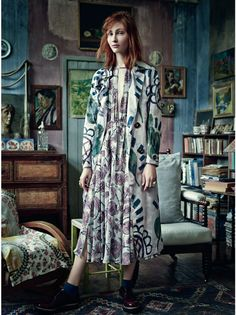 amongst the bohemians: lera tribel by tom allen for uk harper's bazaar november 2014