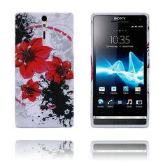 Symphony (Röda Blommor) Sony Xperia S Skal Sony Xperia, Plast
