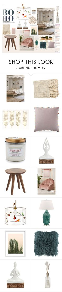 """""""Rainbow Cloud"""" by sthardust ❤ liked on Polyvore featuring interior, interiors, interior design, home, home decor, interior decorating, Magical Thinking, Pem America, Sur La Table and INC International Concepts"""