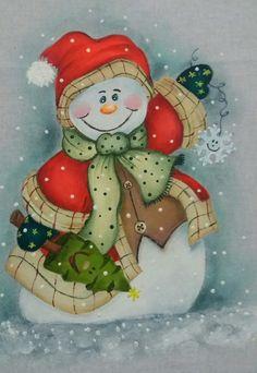 Boneco de neve em tecido