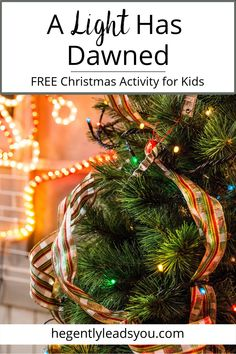 """Jesus is the light of the world! Download the free """"Who is Jesus?"""" Christmas Activity for Kids at the end of this blog post. #biblestudy #christmasactivity"""
