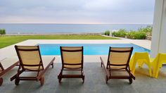 Lahania Beach Villa!  Seats For VIP Holiday Makers ! Outdoor Chairs, Outdoor Furniture Sets, Outdoor Decor, Rhodes Beaches, Villa With Private Pool, Beach Villa, Ideal Home, Greece, Condo