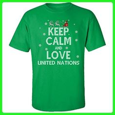 Keep Calm And Love United Nations Country Ugly Christmas Sweater - Adult Shirt - Holiday and seasonal shirts (*Amazon Partner-Link)