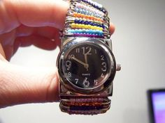 Beaded Safety Pin Watch