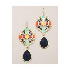 colorful geo earrings
