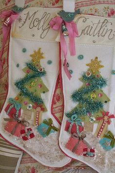 Elf Stocking Cut Outs Jester Boots Set of Six DIY Christmas Ornaments Upcycled Unfinished Wood Whimsical Boots