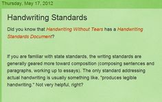 Handwriting Standards  - Re-pinned by @PediaStaff – Please Visit http://ht.ly/63sNt for all our pediatric therapy pins