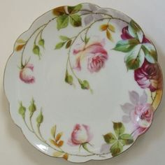 Antique Limoges France Artist Signed Gilbert Flambeau China Hand Painted Plate