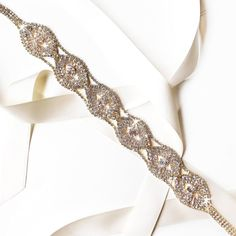 Sash  Extra Long Infinite Rhinestones Bridal Belt by GetNoticed