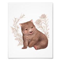 Little Aussie Friends - Wombat Photo Print - animal gift ideas animals and pets diy customize Australian Nursery, Australian Animals, Artwork Pictures, Artwork Ideas, Art Ideas, Baby Wombat, Nursery Artwork, Photo Print, Baby Tattoos