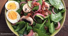 Spinach salad and bacon dressing - Everydayday Dishes & DIY