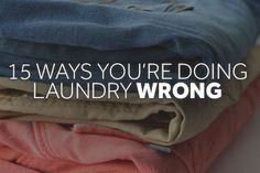 Sure it seems like an easy task, but you might not be doing laundry correctly. Check out these 15 ways you could be doing laundry wrong and find out how to correct them. Doing Laundry, Laundry Hacks, Laundry Room, Household Cleaners, Household Tips, Household Products, Room Freshener, Local News, Things To Know