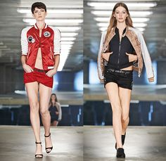 G-Star RAW Amsterdam 2015 Spring Summer Womens Runway Catwalk Looks - Denim Jeans Outerwear Coat Bomber Jacket Parka Streetwear Sweaterdress Jumpsuit Mom Jeans Midriff Crop Top Backpack Skinny Jumperdress Onesie Salopette Overalls Bib Brace Dungarees Emblem Patches Sweats Dress Trench Coat