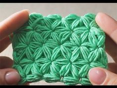 Crochet Jasmine stitch easy tutorial. Think its Polish but its easy to crochet along