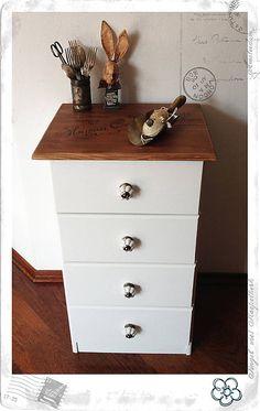 vYQt / Komoda…štvoršuflíkatá... Dresser As Nightstand, Furniture, Home Decor, Vintage, Decoration Home, Room Decor, Home Furnishings, Vintage Comics, Home Interior Design
