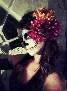 DIY Dia De Los Muertos makeup