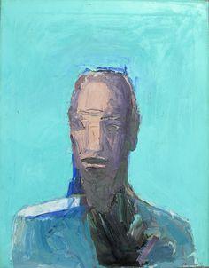 nathan oliveira - blue head