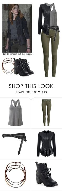 """""""Clary Fray - shadowhunters"""" by shadyannon ❤ liked on Polyvore featuring MANGO, H&M, AllSaints, Isabel de Pedro, Chan Luu and Aéropostale"""