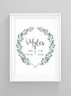 Foliage birthday | print
