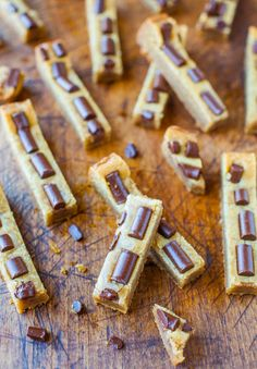 Peanut Butter Chocolate Chunk Cookie Bars. One bowl and prepped and ...