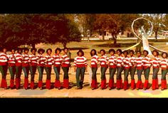 Beta Eta chapter of DST at Alabama State University, some time in the 1980s.