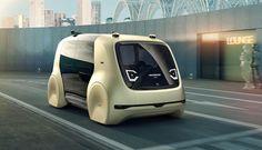 """Volkswagen zeigt auf dem Genfer Auto-Salon seine neue Elektroauto-Studie Sedric. Der selbstfahrende Stromer speziell für den Personentransport soll einen Ausblick auf die Mobilität """"von übermorgen"""" geben. Statt Lenkrad und Pedalen ..."""