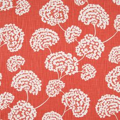 Toile Stems Fabric in Coral  at Joss and Main